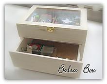 バルサで簡単木工:100均木製ボックス(標本箱)のリメイク