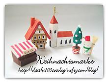 バルサで作るミニミニオブジェ:ドイツのクリスマス市