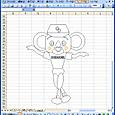 03 Excelでドアラを描く NPBマスコット集