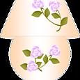 13 花柄ランプ