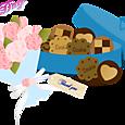 14 ホワイトデー(クッキーと花束)